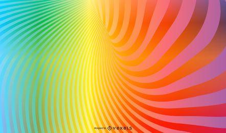 Fondo de vórtice de arco iris con destellos