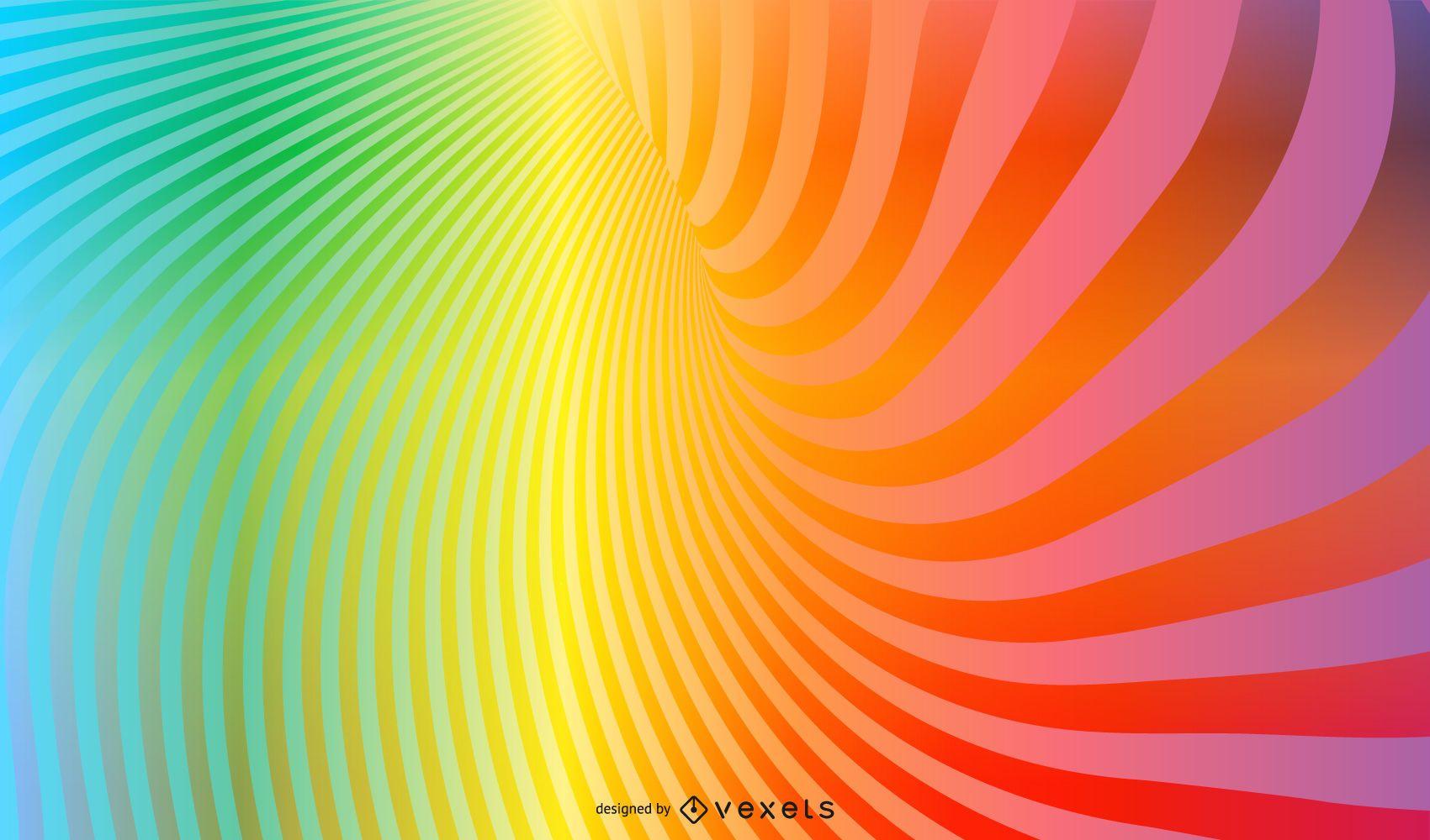 Rainbow Vortex Background with Sparkles