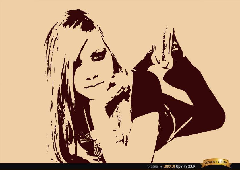 Avril Lavigne dibujo fondo de pantalla