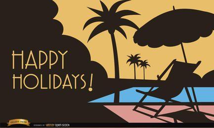 Ferien am Pool Hintergrund