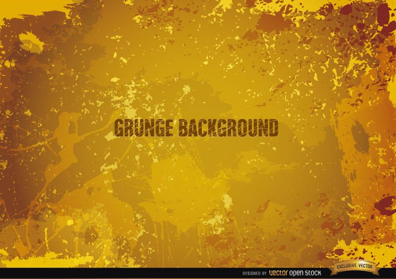 Yellow Grunge Background Vector Download