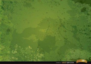 Rustikaler Hintergrund des grünen Schmutzes