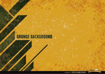 Fundo amarelo grunge com listras modernas