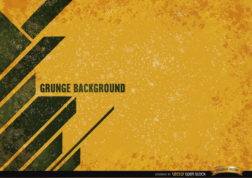 Yellow grunge background with modern stripes