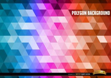 Polygon gradient colors background