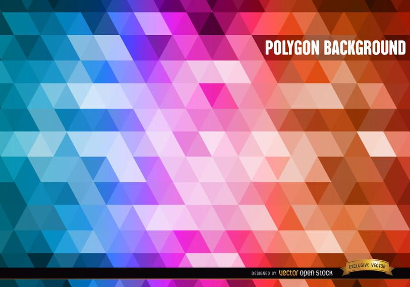 Polygon gradient colors background