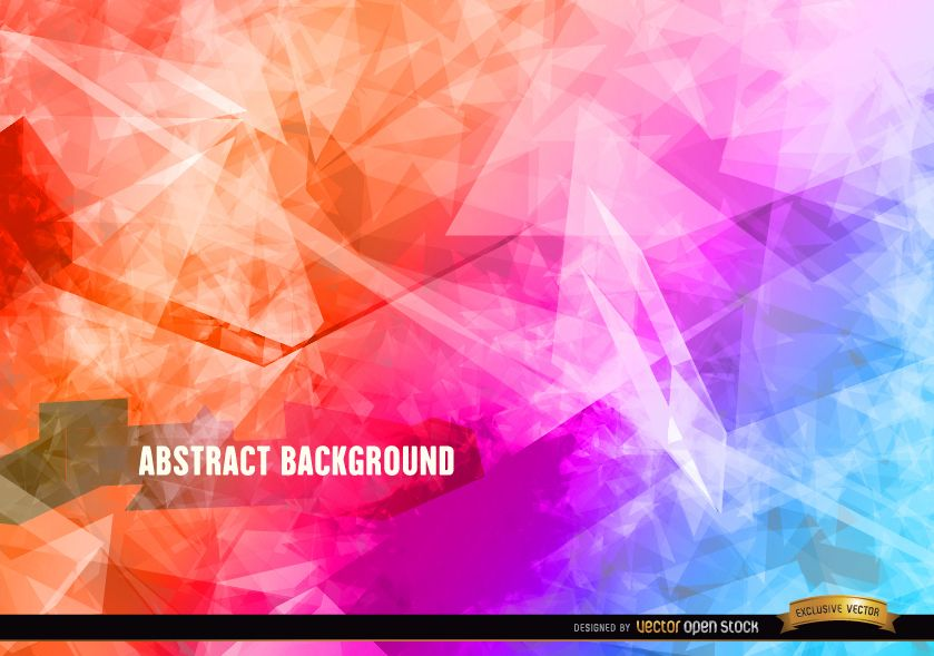 Abstract polygon crystal background