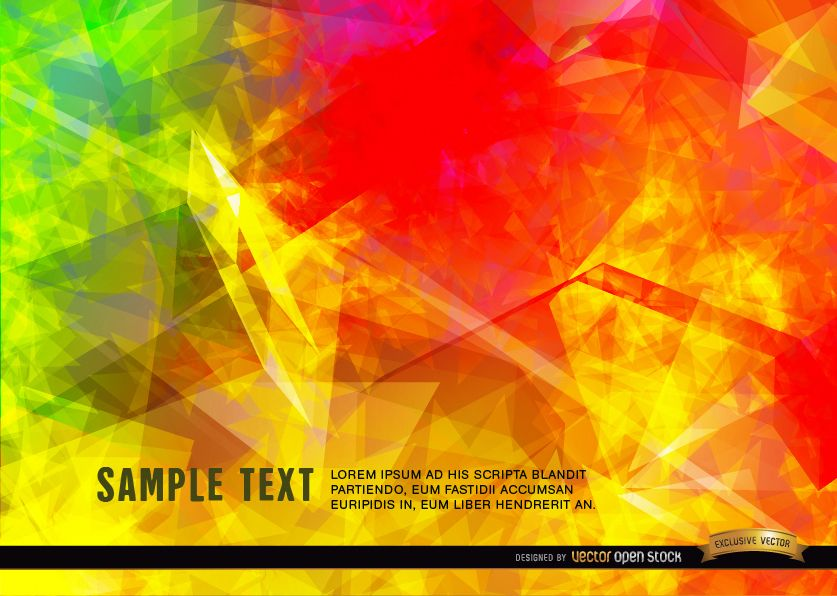 Polygonal flames background