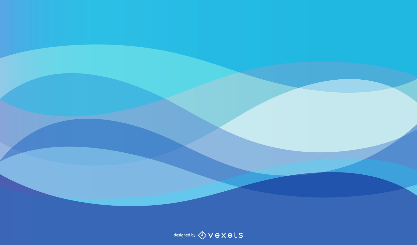 Fluorescent Abstract Blue Curves Background