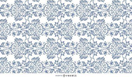 Teste padrão de flor ornamentado