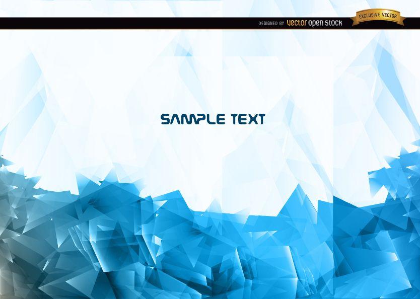 Fondo poligonal azul abstracto