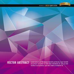 Fondo de polígono abstracto azul púrpura