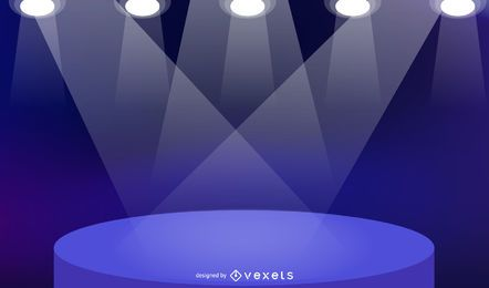 Fundo de palco colorido com luzes do ponto