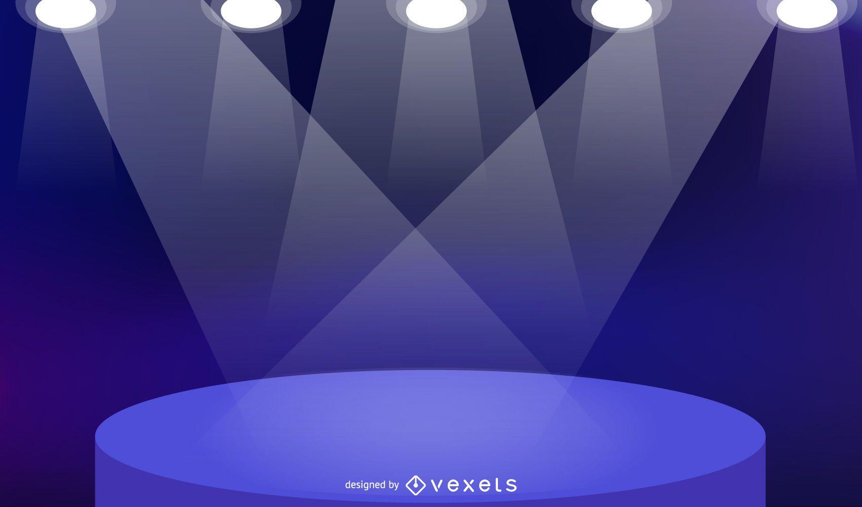 Plano de fundo colorido do palco com luzes especiais
