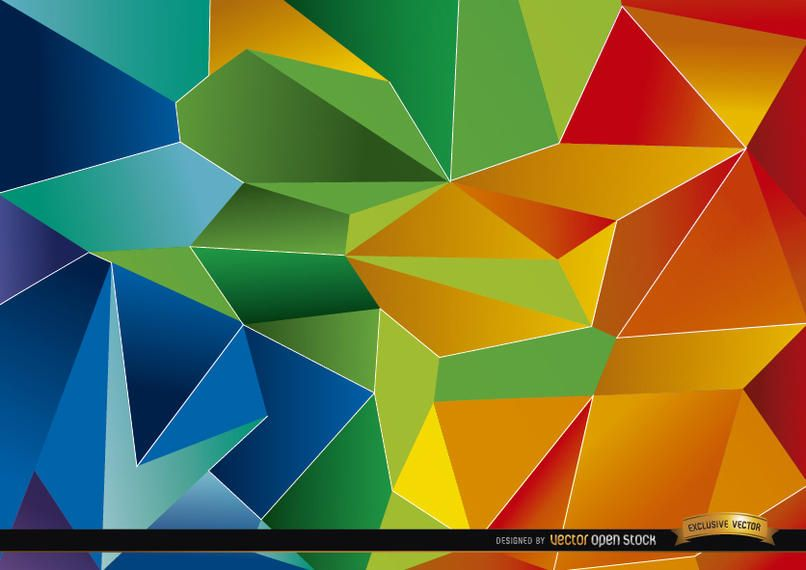 Fundo colorido de polígono