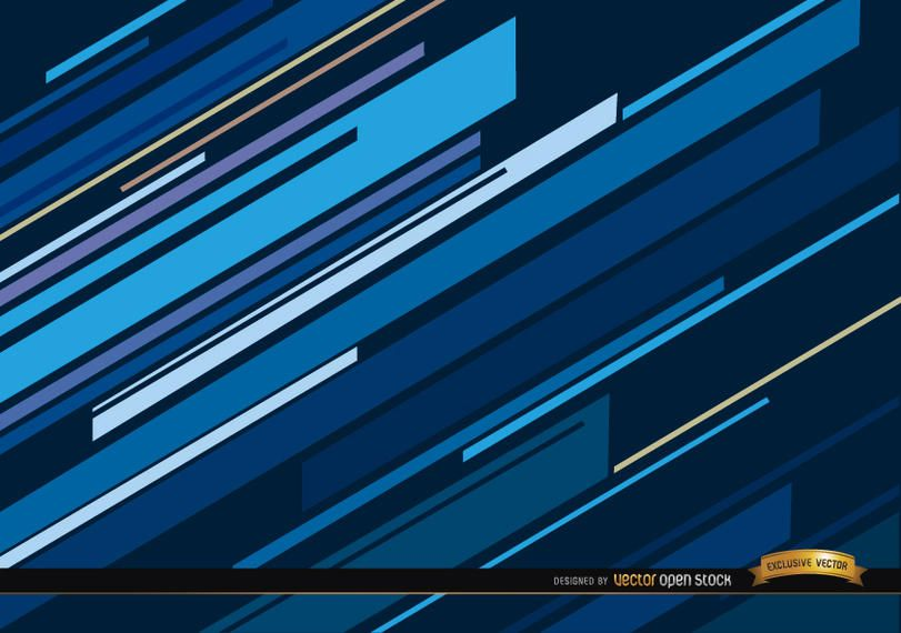 Abstract blue oblique lines background