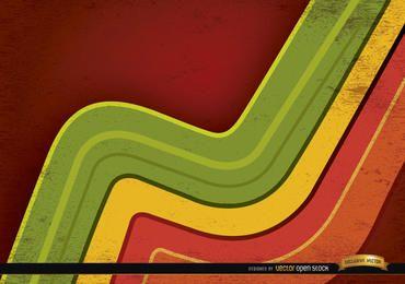 Fundo abstrato com linhas curvas coloridas