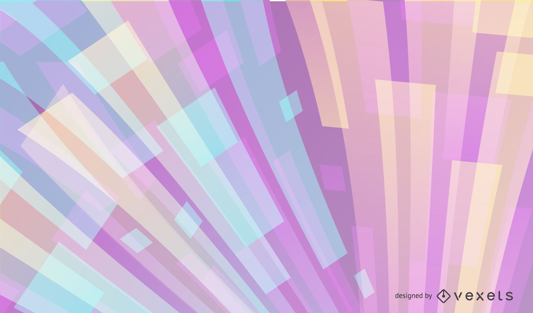 Colorful Abstract Curvy Tiled Background