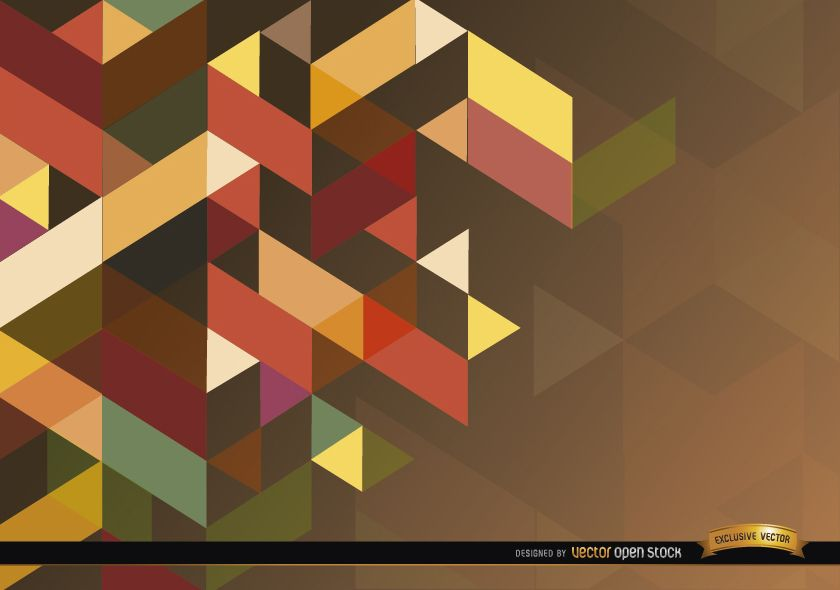 Cubic polygonal background
