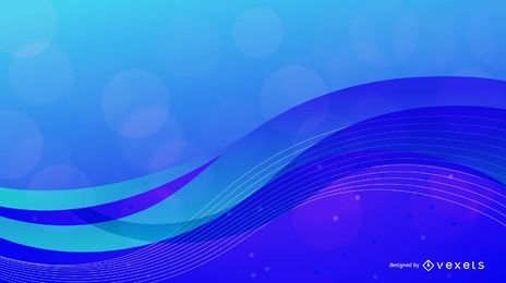 Blue Cutting Edge Wavy Background
