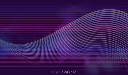 Fundo de linhas e ondas de brilho de néon do arco-íris
