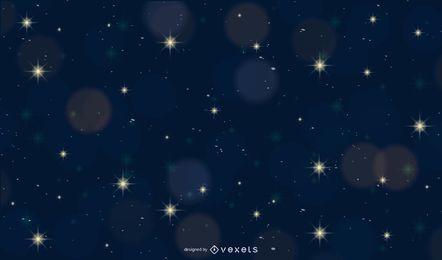 Glänzendes Bokeh mit Sternenlicht-Nachthintergrund