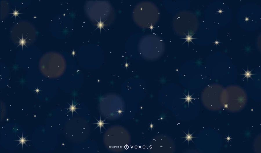 Bokeh brillante con fondo de noche de luz de las estrellas