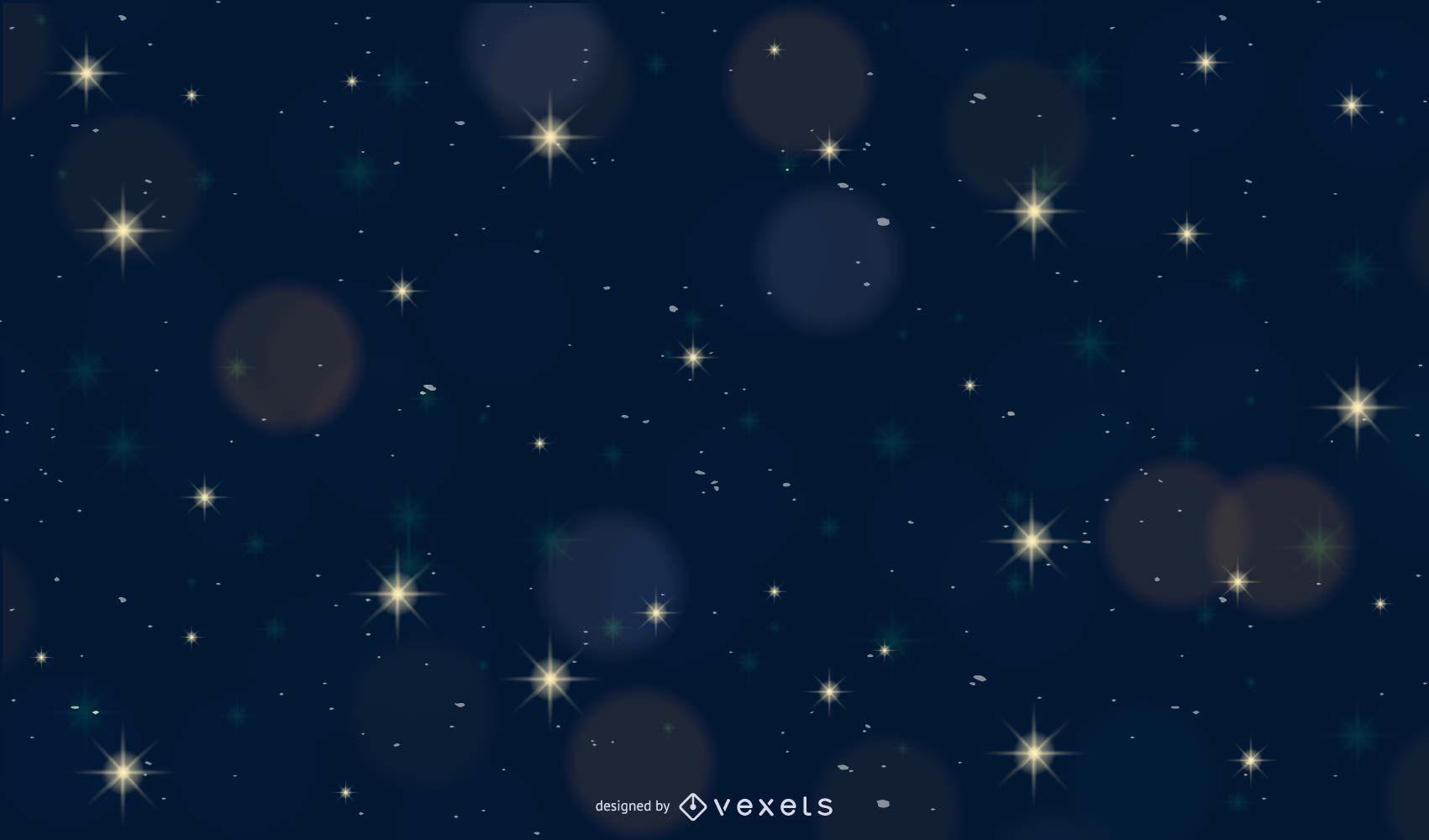 Shiny Bokeh with Starlight Night Background