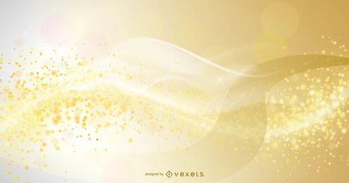 Golden Abstract Smoky Wave Background
