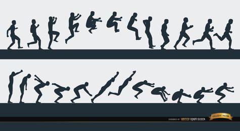 Secuencia de deporte hombre saltando