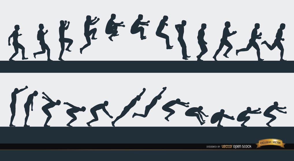 Jumping man sport sequence