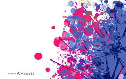 Pintura de mancha colorida Splatter com meio-tom