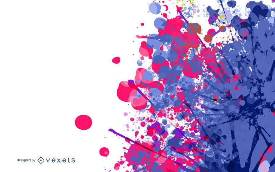 Bunte Spritzer-Fleck-Farbe mit Halbtonbild
