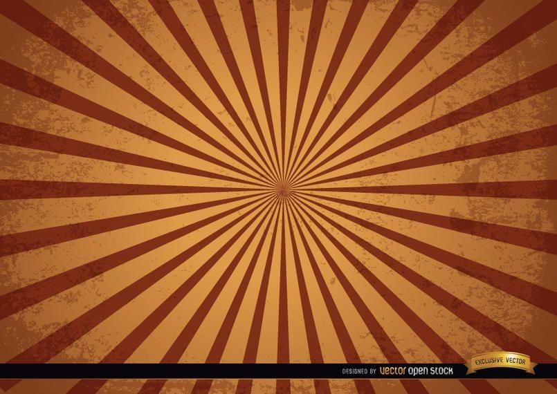 Vintage grunge radial stripes background
