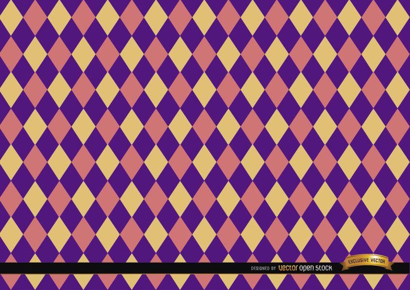 Fondo de patrón de colores rombo