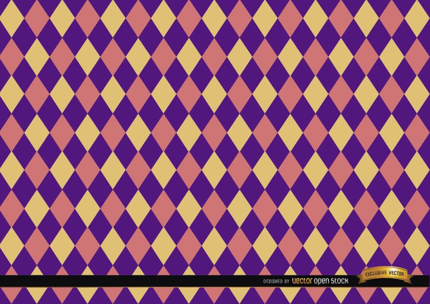 Rhombus colorful pattern background