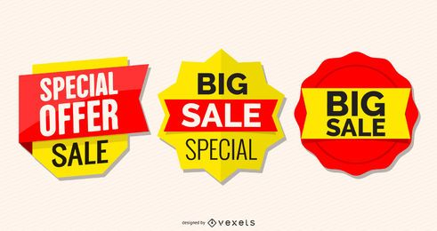Glossy Promotional Sale Label Set