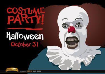Festa de convite de Halloween Pennywise palhaço