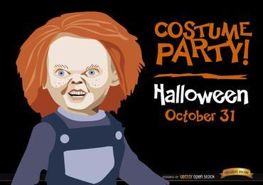 Invitación de Halloween promo Chucky