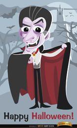Pôster do Dia das Bruxas do Drácula Vampiro