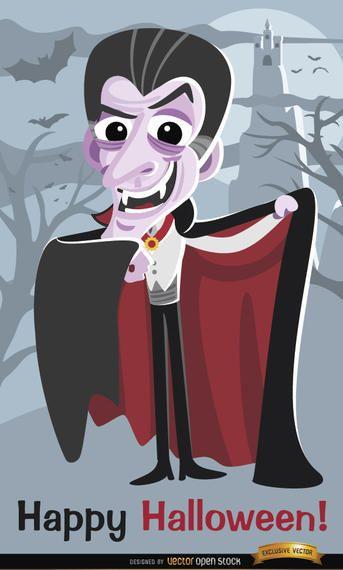 Cartaz do Dia das Bruxas do vampiro de Dracula