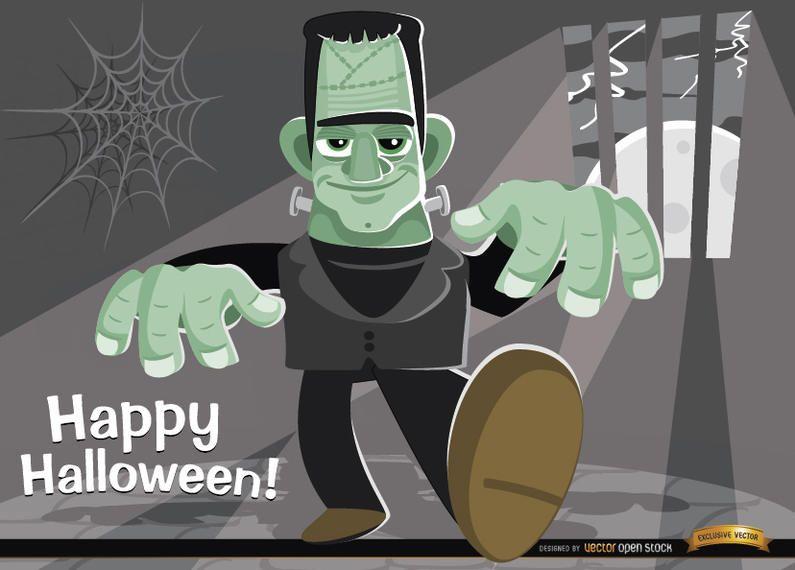 Fondo de Halloween del monstruo de Frankenstein