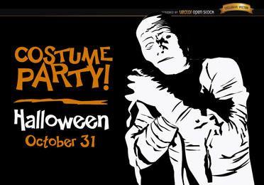 Múmia do convite de Halloween