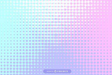 Fundo colorido de meio-tom pontilhado de Pixilated