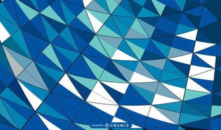 Curvy bildete buntes Mosaik mit Ziegeln gedeckter Hintergrund