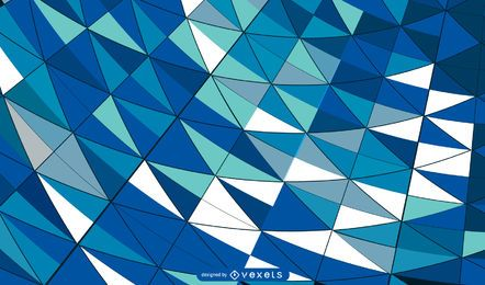 Curvy formado em mosaico colorido em azulejo fundo