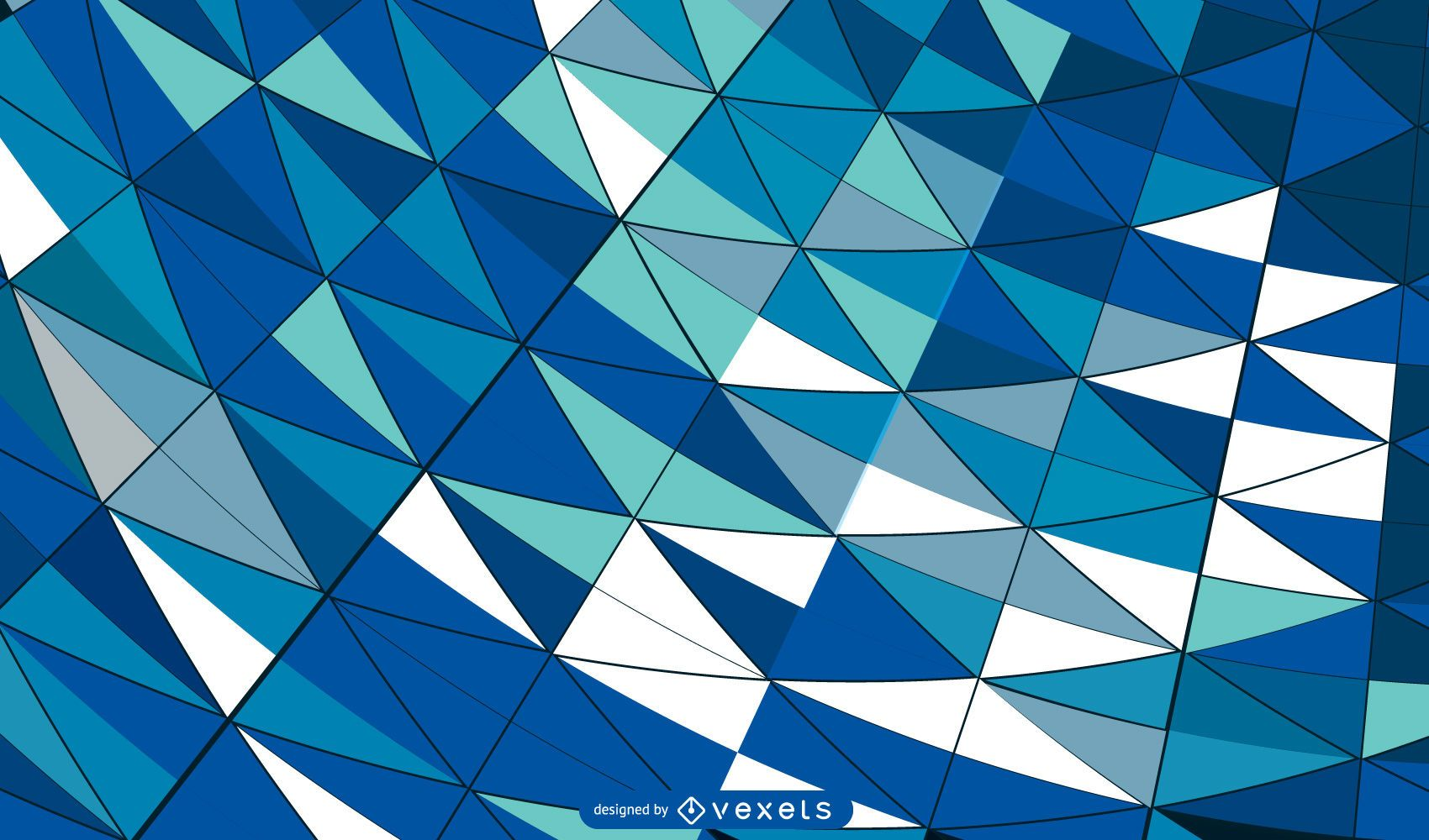 Curvy Formed Colorful Mosaic Tiled Background