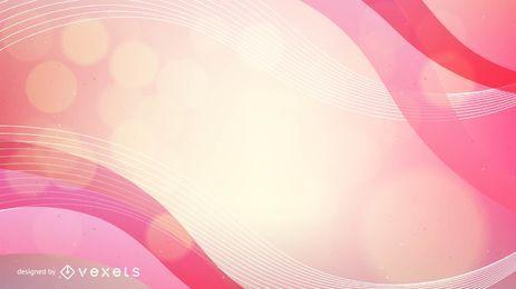 Fondo de líneas onduladas y espiral abstracto rosa