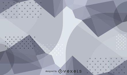 Ondas abstratas e fundo prateado com textura pontilhada