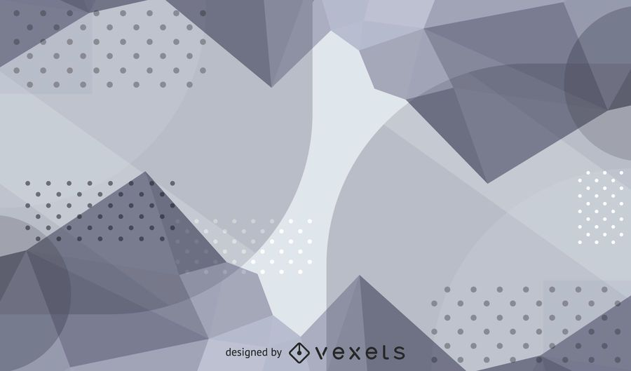 Abstract Waves & Dotted Texture Silver Background